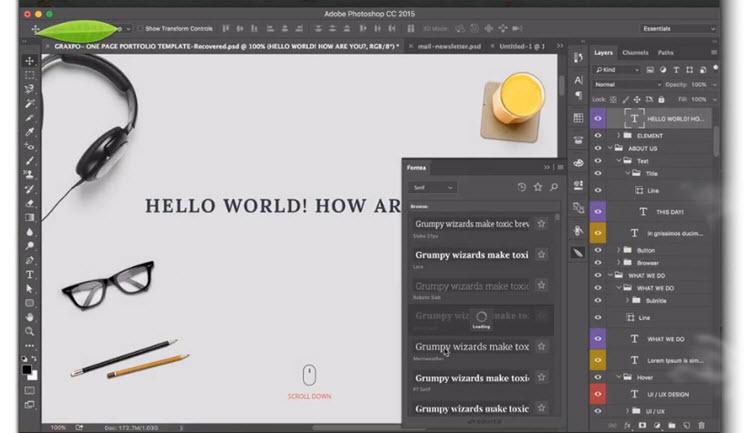 Fontea, un plugin con 800 fuentes de Google Fonts para instalar en Photoshop