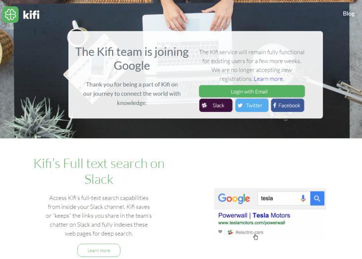 Google adquiere al equipo de Kifi para potenciar Spaces