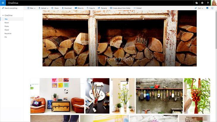 Visualizaciones especiales para carpetas con muchas fotos