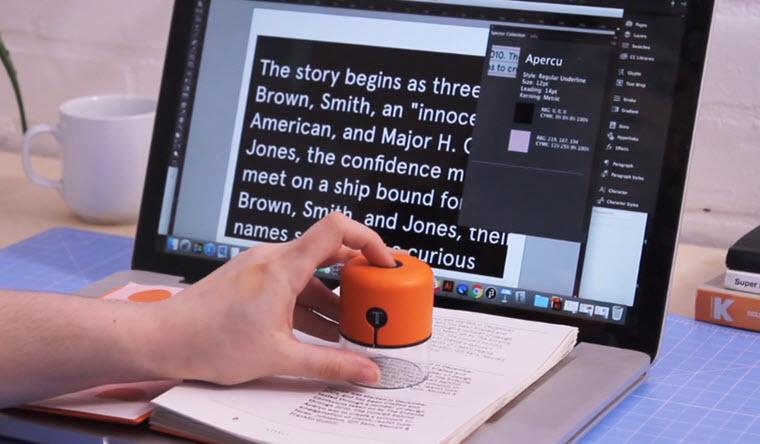 Un dispositivo que transfiere fuentes y colores de nuestro entorno al ordenador