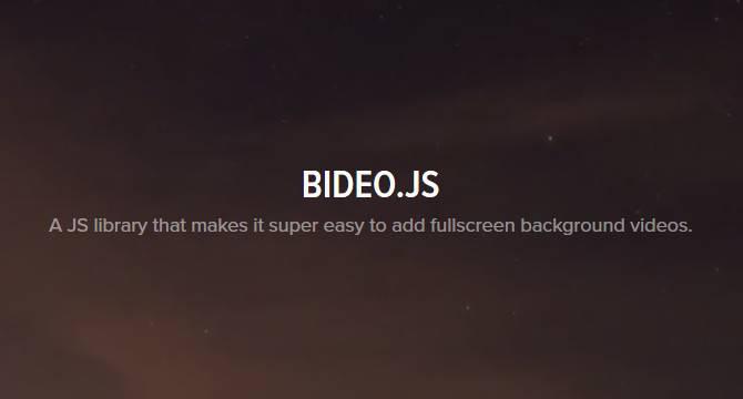 BideoJS: Fondo  De Video En Pantalla Completa