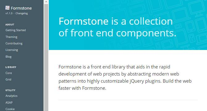 Formstone: Librería De Componentes Front-end