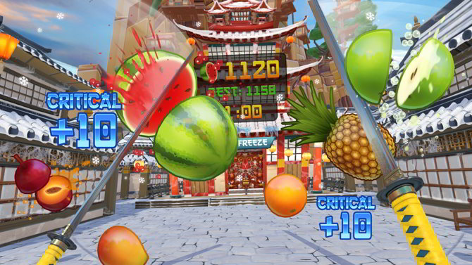fruit ninja realidad virtual