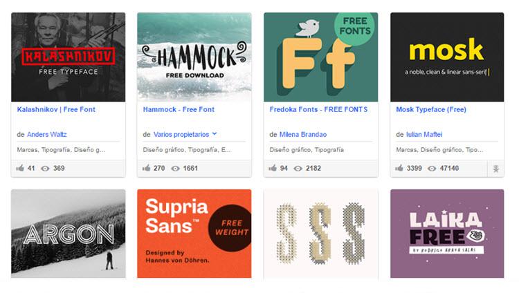 Más de 200 fuentes gratuitas para proyectos creativos