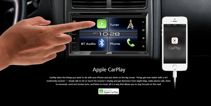 jvc apple carplay receptor