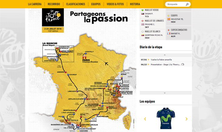 mapa tour de france 2016