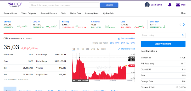 new yahoo finance