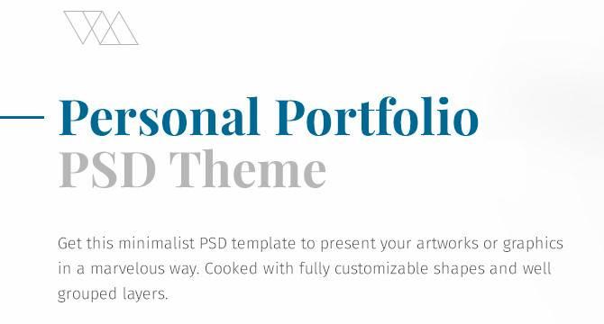 Plantilla PSD De Portafolio Minimalístico Web