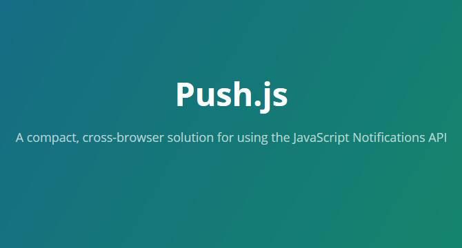 Push.js: Solución De Notificaciones Con API JavaScript