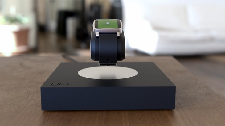 LIFT carga relojes inteligentes por inducción mientras los mantiene suspendidos en el aire
