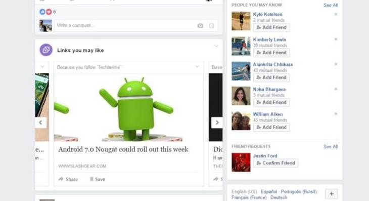 """Imagen: Captura de """"Links you may like"""" de VentureBeat"""