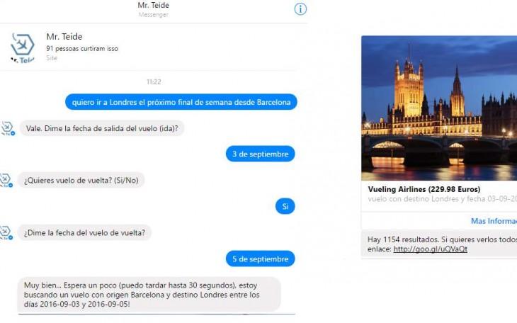 Ejemplo de conversación con Mr. Teide
