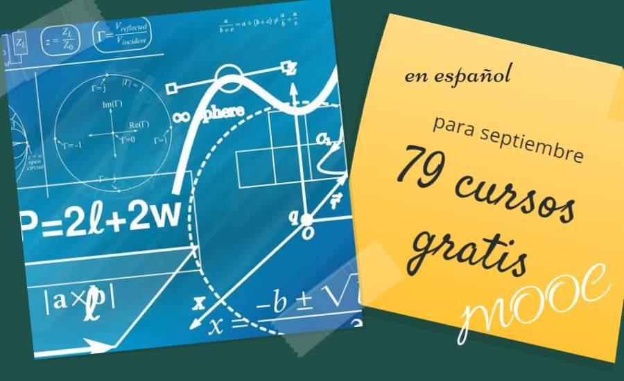 79 cursos MOOC en español para septiembre