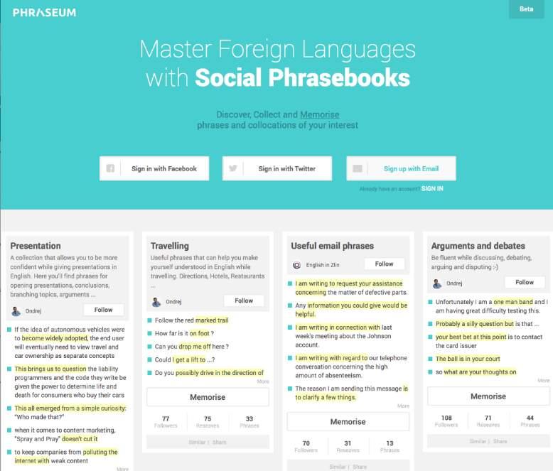 Phraseum, inteligente sistema gratuito de aprendizaje de idiomas, lanza nueva versión