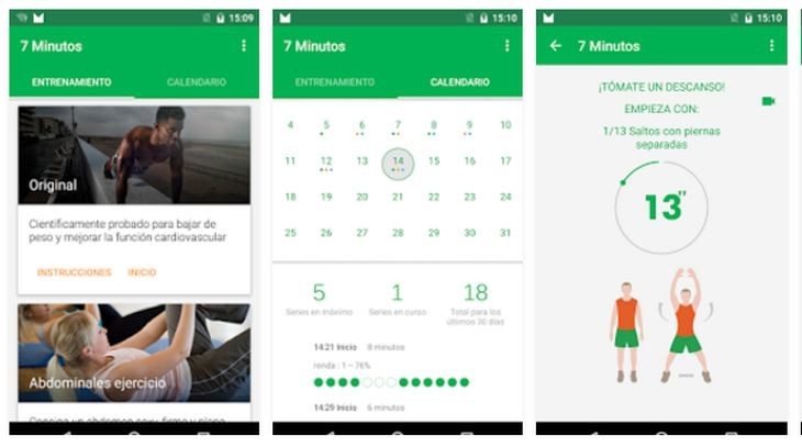 Apps Android para la realización de ejercicios físicos diarios en ...