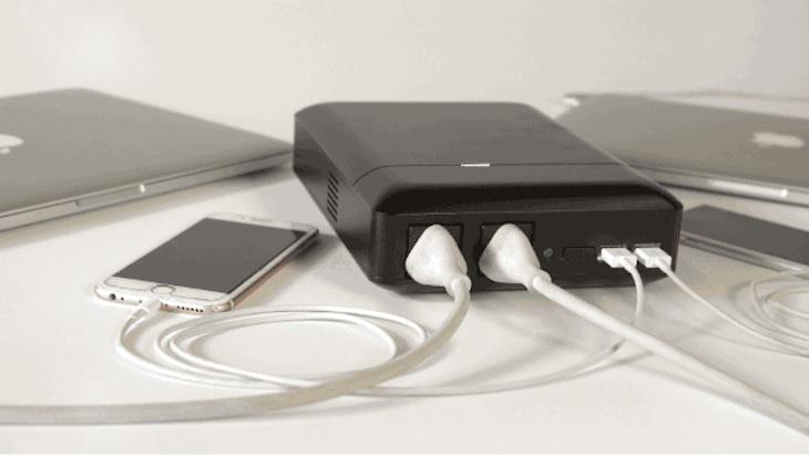 PLUG, batería externa de 48.000 mAh con tomas de corriente para enchufes y puertos USB