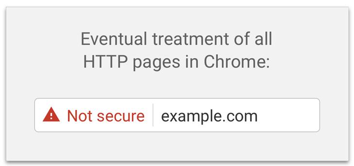 Chrome comenzará a etiquetar a sitios web bajo HTTP como inseguros