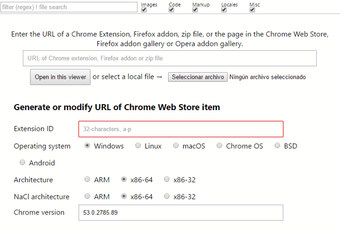 chrome extension code