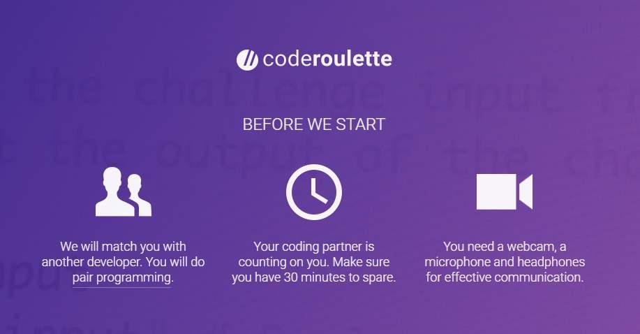 coderoulette, una versión de Chatroulette para programadores de todo el mundo