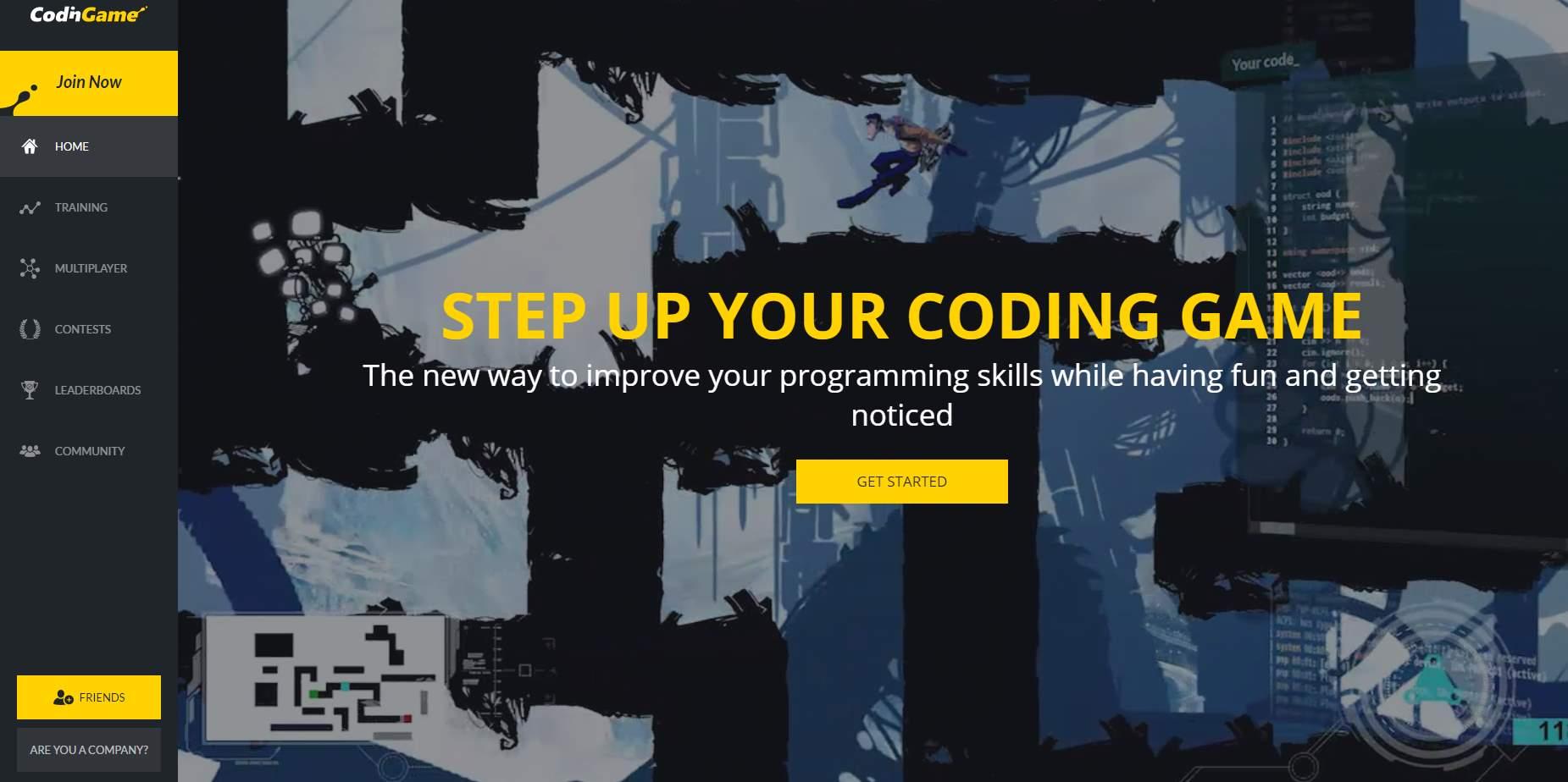 codingame, para practicar programación haciendo juegos