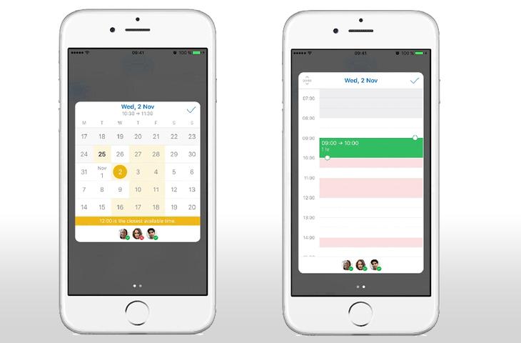 Así funciona el nuevo asistente de programación de encuentros de Outlook para iOS