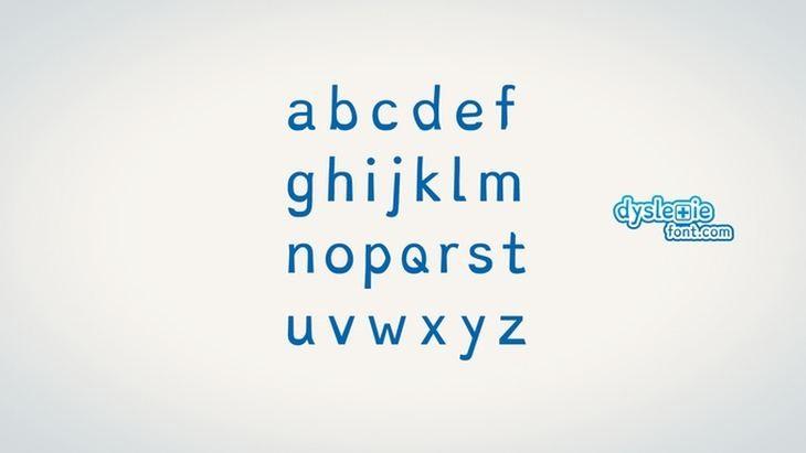 Imagen: Alfabeto de Dyslexie Font