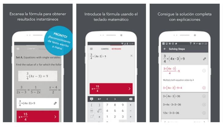 3 aplicaciones de resolución matemática para Android