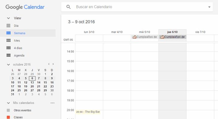 Una extensión para mejorar la apariencia de Google Calendar con Material Design