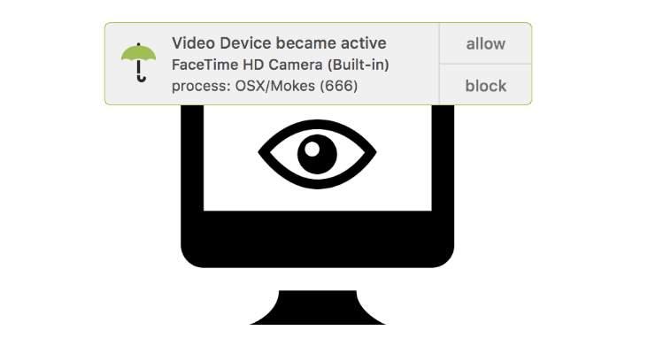Una aplicación que nos avisa cada vez que algo o alguien usa nuestra webcam