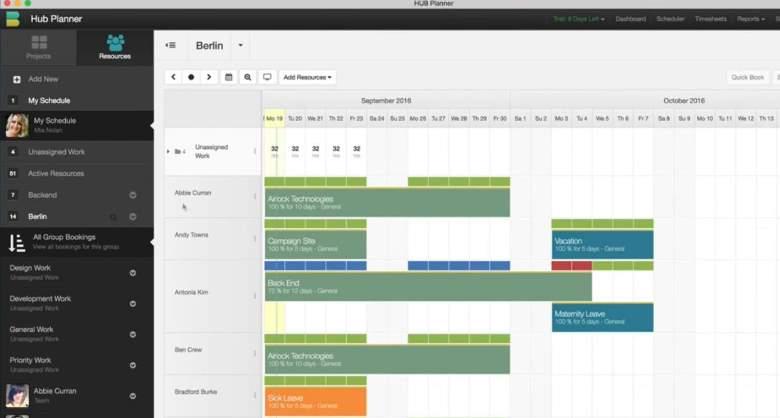 Hub Planner, una fantástica plataforma de programación de recursos
