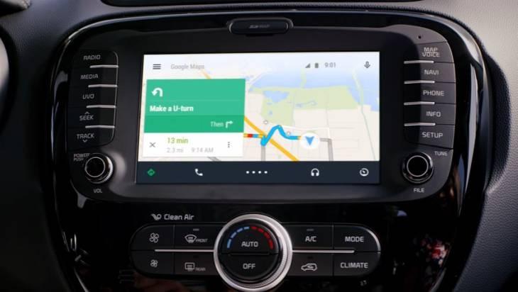 Imagen de anuncio promocional oficial de Android auto