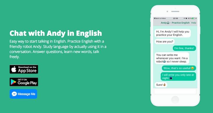 Andy, un bot para practicar inglés manteniendo conversaciones