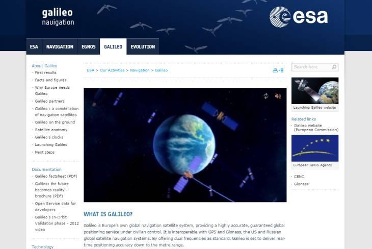 Imagen: Sitio web oficial de Galileo (ESA)