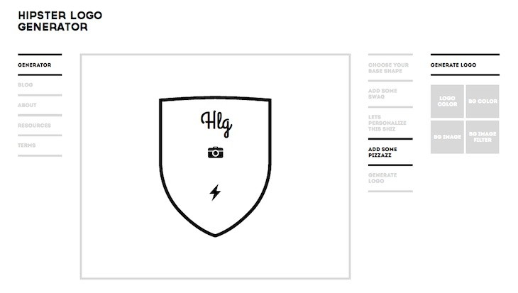 2 herramientas gratuitas para crear logos sencillos a for Hipster logo generator