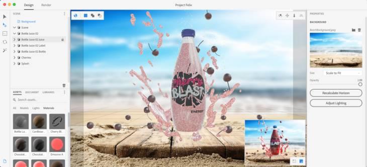 Adobe presenta suite de composición hiperrealista con elementos 3D para diseñadores