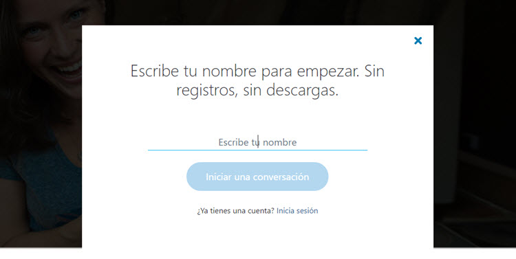 Ya se puede utilizar Skype sin tener una cuenta, ni descargar nada