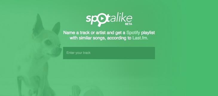 Spotalike, creando listas de reproducción en Spotify con canciones similares a la indicada
