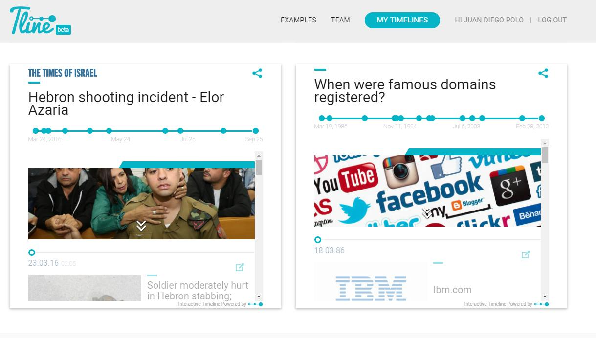 Tline, una fantástica forma de crear lineas de tiempo con noticias