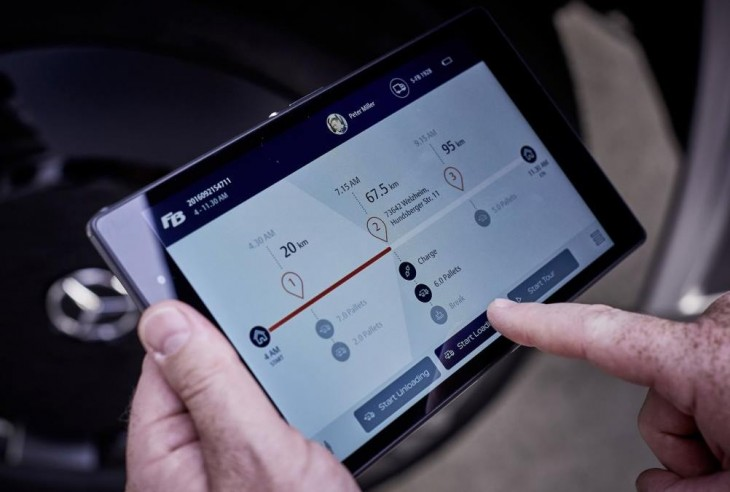 Tableta de control de energía. Foto: Daimler