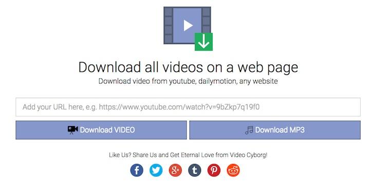 Herramienta para descargar los vídeos de una página web con un solo clic