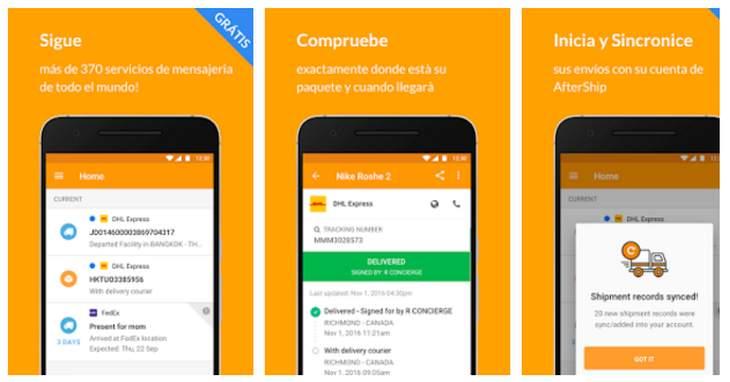 3 aplicaciones Android para el seguimiento de envíos