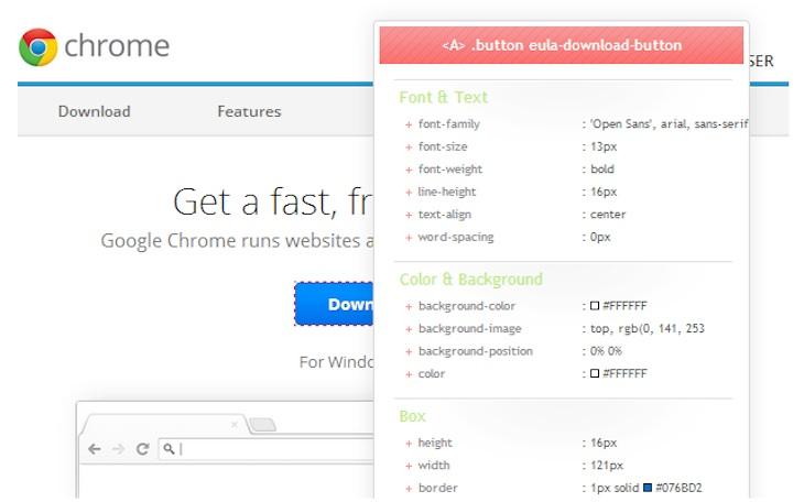 CSSViewer, para visualizar las propiedades CSS de cualquier página web