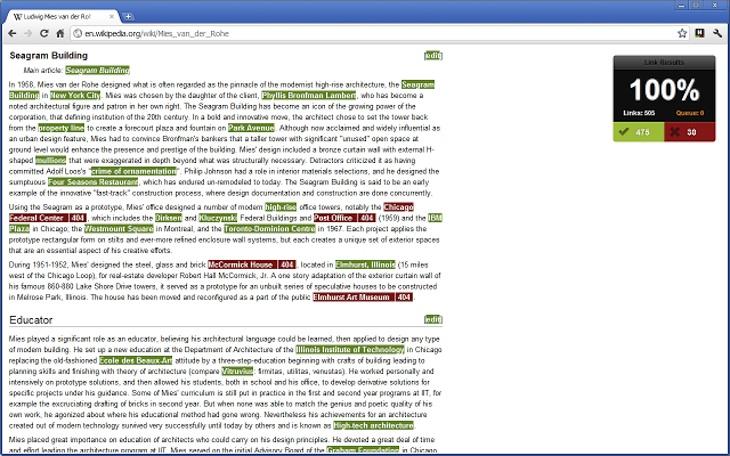 Check My Links, para destacar los enlaces rotos de una página web