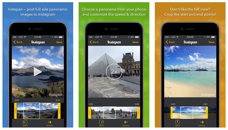Instapan, app para poder mostrar fotografías panorámicas en Instagram (iOS)
