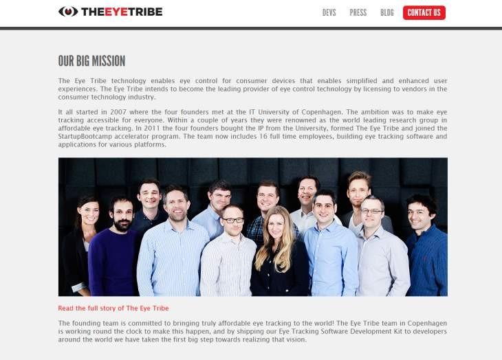 Imagen: Sitio web oficial de The Eye Tribe