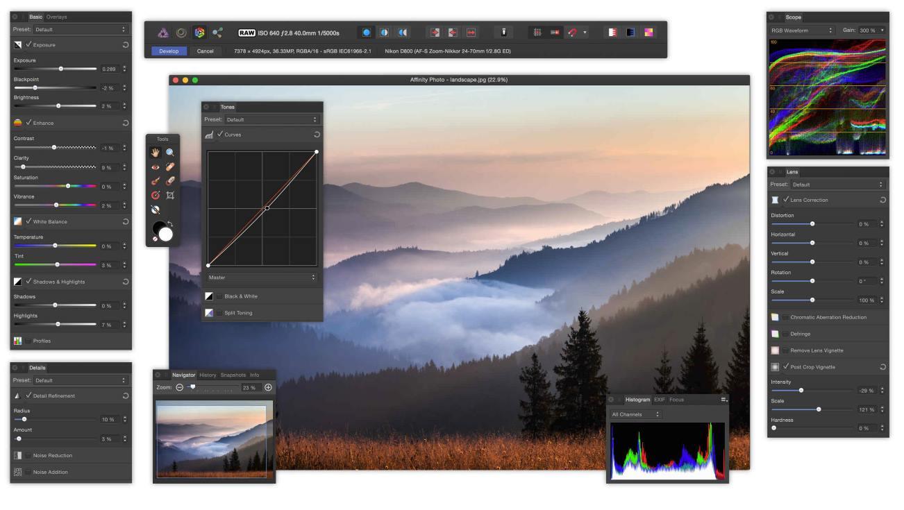 Affinity, una de las mejores alternativas a Photoshop, ya está disponible para Windows