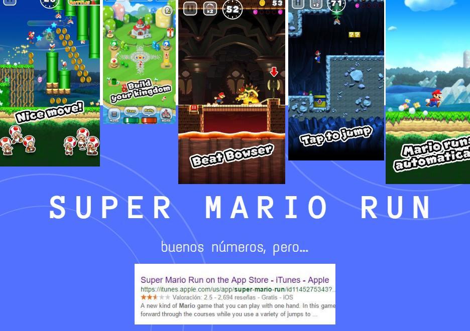 Super Mario Run: 37 millones de descargas y 14 millones de dólares facturados en 3 días, pero…