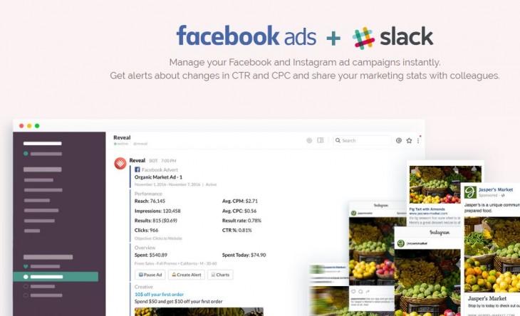 facebook con slack