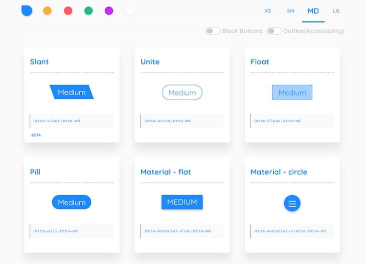 Dos sitios web en los que encontrar botones para tus proyectos web