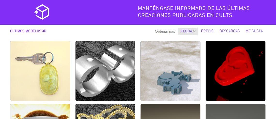 Cults3D, para encontrar modelos 3D que podremos imprimir
